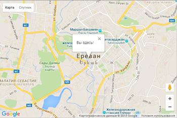пример использование Google Maps API
